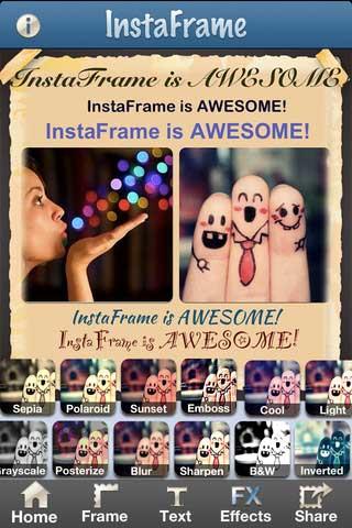 تطبيق Instaframe