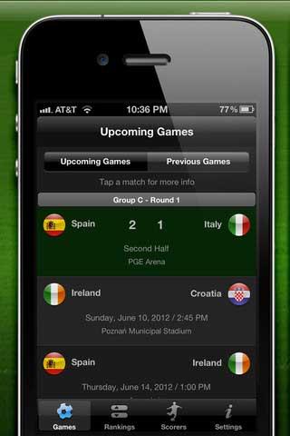 تطبيق بطولة امم اوروبا بكرة القدم