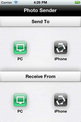 تطبيق WiFi Photo Sender