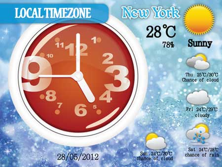تطبيق Awesome Weather Clock
