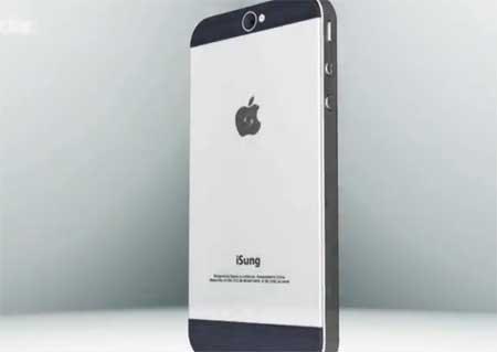 فكرة: جهاز الايفون 5 يلتقي مع جهاز جالاكسي اس 3