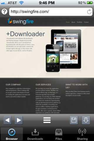 تطبيق +Downloader