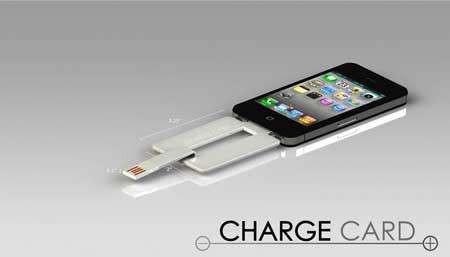 شاحن جديد Chargecard يمكن وضعه في المحفظة