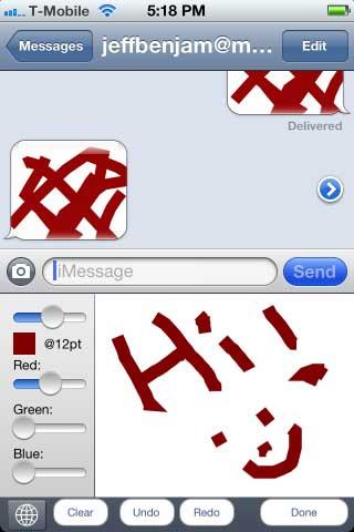 السيديا: اداة Grafiti للرسم في داخل الرسائل النصية