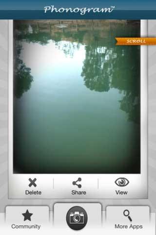 تطبيق لالتقاط الصور مع الصوت