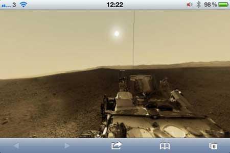 شاهد كوكب المريخ مباشرة عبر جهاز الايفون