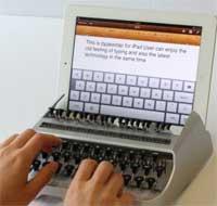 منتج جديد يحول جهازك الايباد الى آلة كاتبة تقليدية