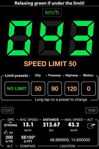 تطبيق Speedometer free