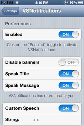 السيديا: VSNotifications – أداة للاشعارات الناطقة