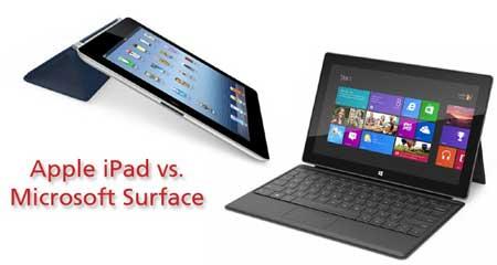 مقارنة السرعة بين الايباد 3 وجهاز Surface من مايكروسوفت