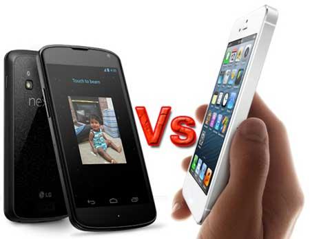 مقارنة: الايفون 5 مقابل نيكسوس 4 - ايهما افضل؟