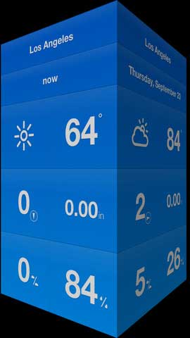 تطبيق WeatherCube