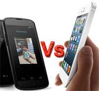 صورة مقارنة: الايفون 5 مقابل نيكسوس 4 – ايهما افضل؟