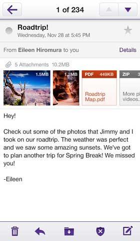 تطبيق Yahoo! Mail