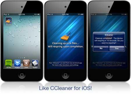 نسخة جديدة من iCleaner اداة تنظيف ذاكرة الجهاز