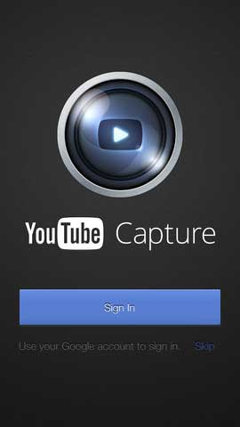 تطبيق YouTube Capture