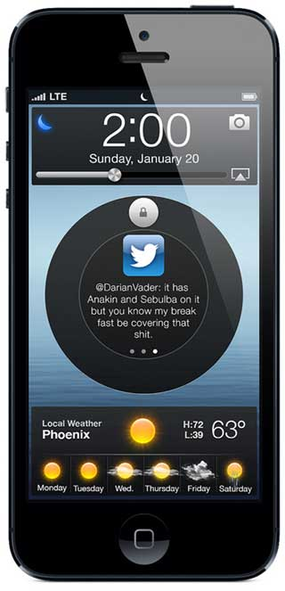 تصورات: شاشة اقفال مبتكرة وجذابة في نظام iOS للتشغيل
