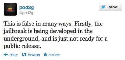الهاكر المعروف pod2g عبر حسابه في تويتر