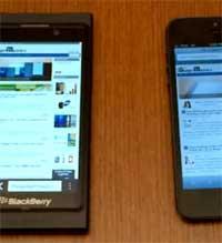 جهاز الايفون 5 مقابل جهاز بلاك بيري زد 10، ايهما اقوى ؟