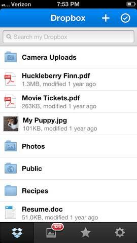 تطبيق Dropbox
