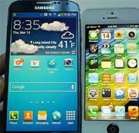 مقارنة جهاز الايفون 5 مع جالاكسي أس 4