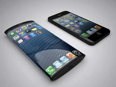 Imagine: iPhone according to Apple patent for curved screen aspects