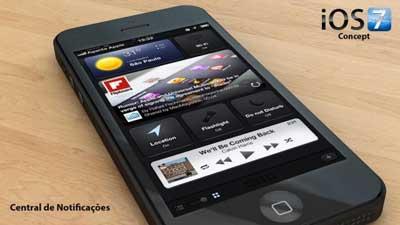 تصور: iOS 7 بمركز اشعارات جديد وبشاشة اقفال من اختيارك وغيرها