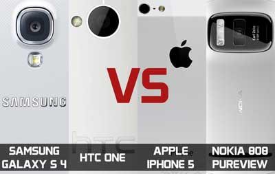 ايهم افضل كاميرا: الايفون 5، الاس 4، HTC One ام النوكيا ؟