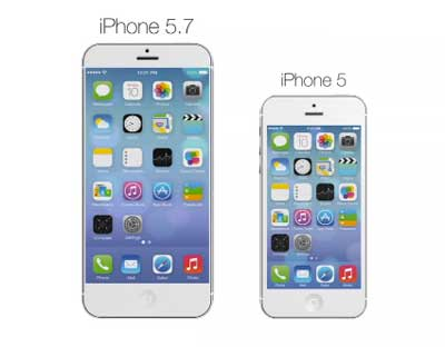 Imagine: Video How It seems iPhone screen 5.7 inches in diameter