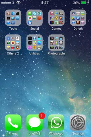 ليس عليكم الانتظار: مظهر نسخة iOS 7 متوفر في السيديا
