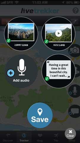 تطبيق LiveTrekker