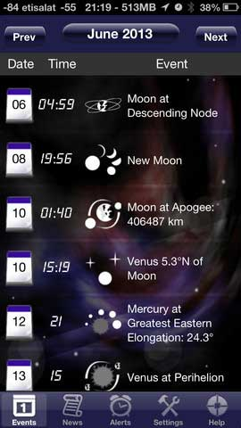 تطبيق Astronomy Events With Push