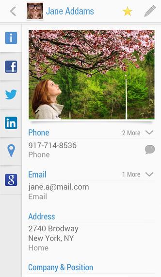 تطبيق Contacts+ for iPhone