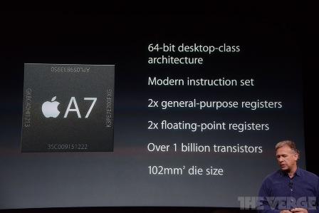 معالج A7 في هاتف iPhone 5S