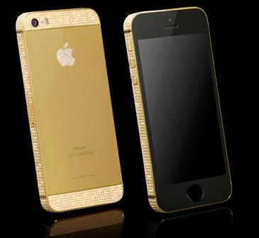 ايفون 5 اس من الذهب الخالص و البلاتين و الماس !