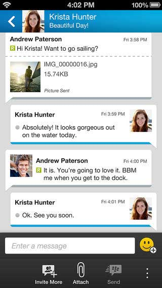 تطبيق بلاكبيري ماسنجر BBM