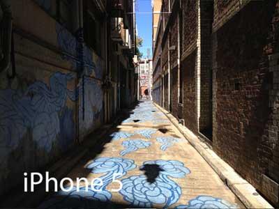 صورة عبر الايفون 5