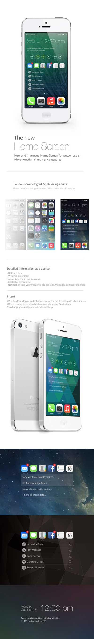 تصور: هكذا يجب ان يكون نظام التشغيل IOS 8، شاهدوا بالصور !