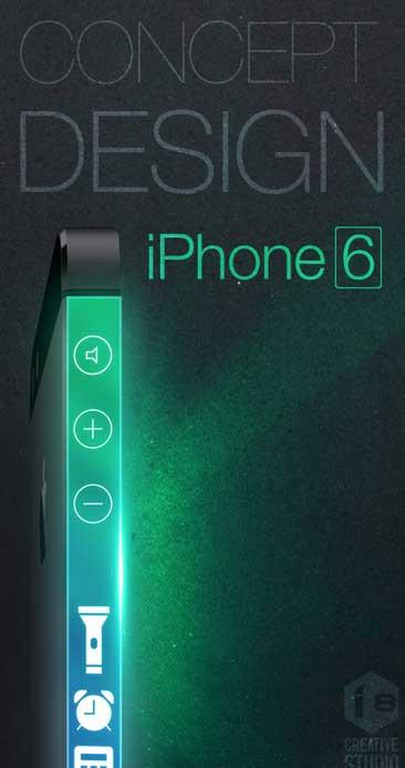 تصور خيالي للايفون 6: شاشة جانبية للجهاز