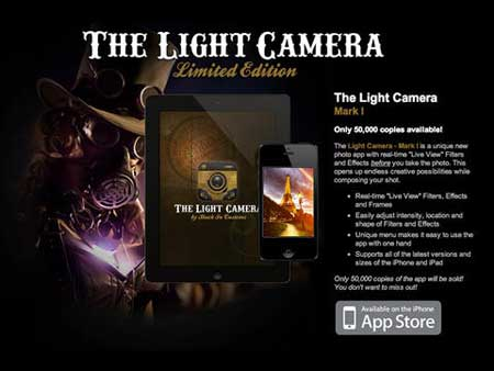 تطبيق The Light Camera - Mark I