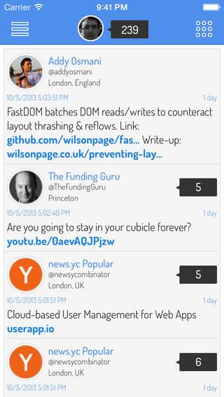 تطبيق Driplr لتويتر