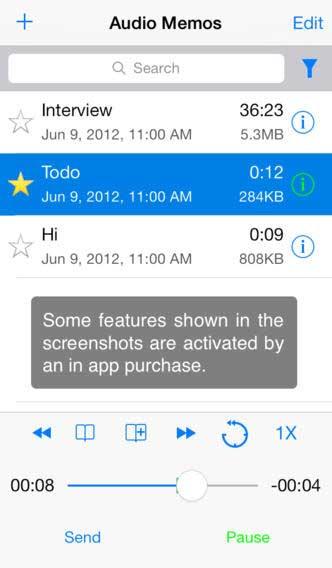تطبيق Audio Memos