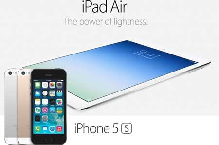 الآيباد آير + الأيفون 5s