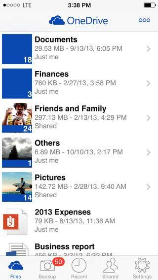 تحديث جديد لتطبيق OneDrive