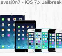 تحديث evasion7 لدعم جيلبريك iOS 7.0.5