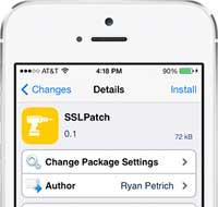 صورة أداة SSLPatch لحل مشكلة الثغرة الخطيرة في نظام آبل