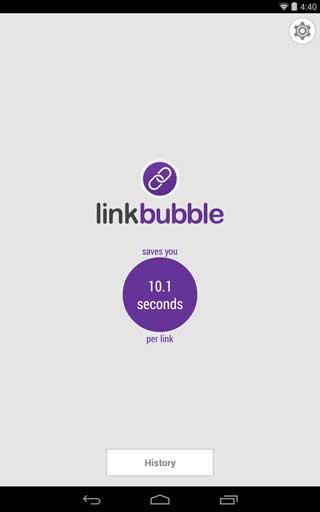 تطبيق Link Bubble