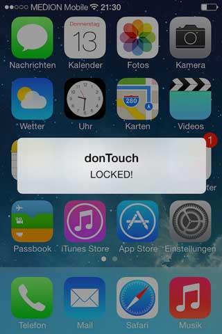 أداة donTouch