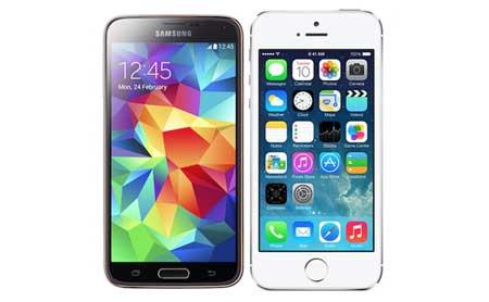 الأيفون 5s وجالاكسي S5