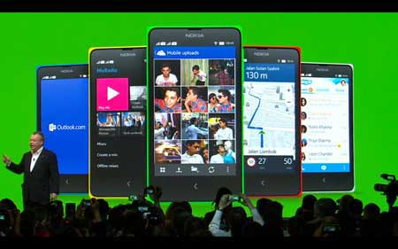 جهاز Nokia X العامل بالاندرويد